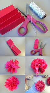 Steps To Create The Tissure Paper Poof Pieces