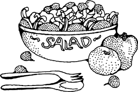 salad clipart black and white 6