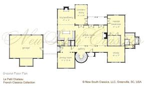 Chateau Floor Plans New South Classics Le Petit Chateau