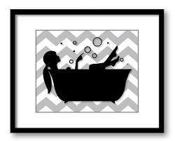 Chevron Print Bathroom Decor by Bathroom Decor Bathroom Print Grey Gray Black White With