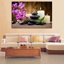 stein candel blumen zen tapete leinwand poster drucke wand kunst malerei dekorative bild moderne wohnzimmer dekoration