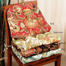 Jacobean Floral Country Curtains by Valbella Jacobean Floral Indoor Outdoor Chair Cushion Set