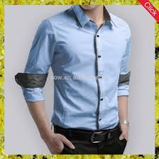 wholesale 100 cotton latest design slim fit dress shirts for men