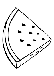 Triangle Slice Watermelon Coloring Pages For Kids