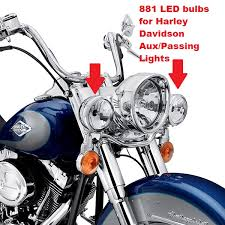 bright led bulbs for harley davidson auxiliary lights