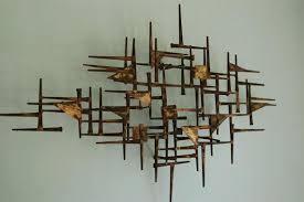 Mid Century Brass Wall Art Marvellous Design Metal A Room Modern Cute