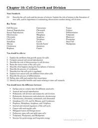 Biology Chapter 10 Cell Growth and Division Study Guide with
