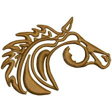 100 Mm Design Wl004 Horse Embroidery
