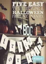 Halloween Mantel Scarf by Homespun With Love Black U0026 Orange Halloween Mantel Inspiration