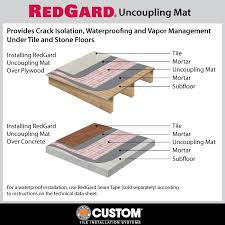 custom building products redgard 54 sq ft 39 4 in x 16 5 ft