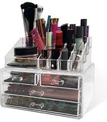 Acrylic Makeup Organizer For Counter Countertop With Drawers For