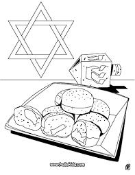 Hanukkah Dreidel Doughnut Coloring Page