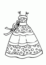 Dress Summer Polka Dot Coloring Page For Girls Printable Free