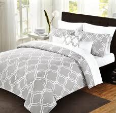 Tahari Home Bedding by Max Studio Geometric Quatrefoil Trellis Pattern King 6pc Cotton