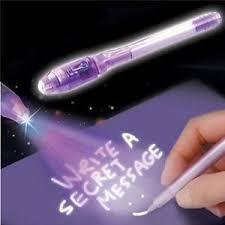 1 4pcs UV Pens Invisible Ink Marker Security Secret Pen Ultra