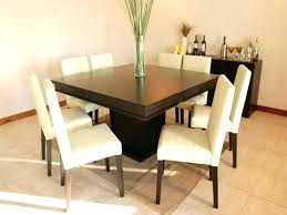 Square Dining Tables Seats 8 Table Seat Modern Minimalist Wood Design