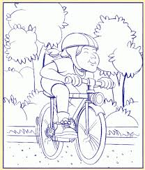 Images Coloring Bike Safety Pages About Bicycle For Kids