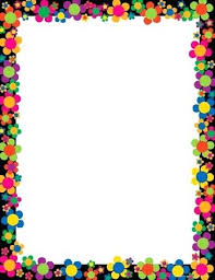 Borders Paper Designs Neon Flower Power Barker Creek Border For Projects Black And