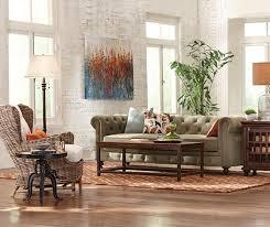 Cool Gordon Tufted Sofa With Sage Green Velvet 899 Plus 195 Shipping