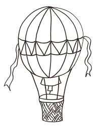 Hot Air Balloon Coloring Pages 12