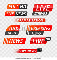 Vector Tv News Banner Interface Label Strip Or Icon Live Breaking
