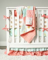 Teal And Coral Baby Bedding by Coral And Teal Chevron Baby Bedding Tags Coral And Teal Baby