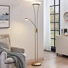 lindby led stehle amadou dimmbar in gold messing aus metall ua für wohnzimmer esszimmer a inkl leuchtmittel wohnzimmerle