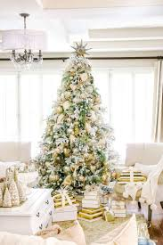 75 Flocked Christmas Tree by Christmas Home Tour Holiday Home Showcase 2016 Flocked