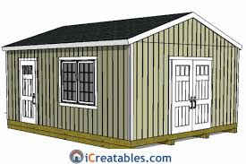10x14 Garden Shed Plans by 16x20 Shed Plans Build A Large Storage Shed Diy Shed Designs