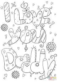 Click The I Love You Daddy Coloring Pages To View Printable Version Or Color It Online Compatible With IPad And Android Tablets