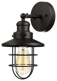 beaufort 1 light rubbed bronze wall sconce style
