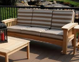 Cypress Mission Sofa W Sunbrella Cushions