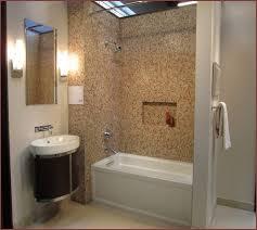 glass tile bathtub surround home design ideas