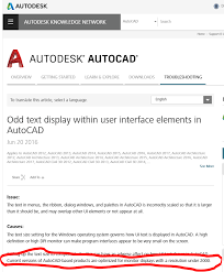 4K 3840 X 2160 resolution problem scaling in AutoCAD 2016