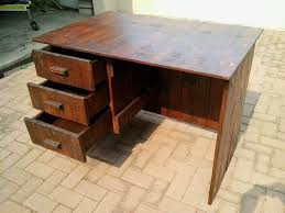 Pallets Wood Desk with Drawers