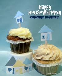 Cupcake Toppers Happy Housewarming
