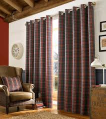 Archie Denim Tartan Curtains Perfect For Any Room