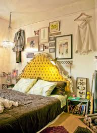 Boho Chic Bedroom With Quirky Gallery Wall