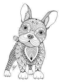 Zentangle Dog I Artist Miedzy Kreskami Coloring Pages