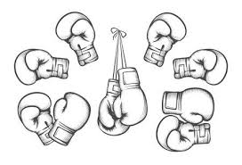 Boxing Gloves Equipment For Fight Competition Hanging And Protection Hand Vector Illustration
