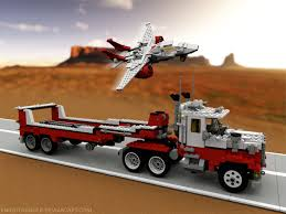 Lego 05591 Red Bird Truck, Trailer, And Jet By KnightRanger ... Lego Toys R Us City Truck Itructions 7848 Old Long Nose Working Semi Pulling The Dhl Trailer Moc3961 Truck Town 2015 Rebrickable Build Lego 05591 Red Bird Trailer And Jet By Knightranger Lego T2 Mkii With Lowboy Tr4 Mkll Dolly Flatbed I Saw This Kind Of Crane Section On A Flat Flickr Custombricksde Custom Modell Moc Thw Fahrzeug Vehicles Bdouble Curtainsider Pictures Review The Brick Fan