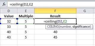 Ceiling Function Excel Example by What Is The Formula To Find Out Next Multiple Of 5 Of A Number I E