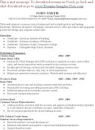 Resumes Samples For Jobs Strong Resume Example Bank Teller Regarding Examples 2013