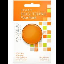 Andalou Naturals Glycolic Mask Pumpkin Honey by Instant Brightening Face Mask Pumpkin U0026 Honey Face Mask