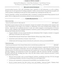Resume Templates For Executive Stunning Sample Chef Mcdonalds Cover Letter Crew Trainer Samples Template Free Examples