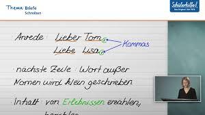 Besten Der Brief Schreiben Deutsch Muster Kreatives Muster