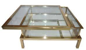 casa padrino luxus edelstahl couchtisch gold 100 x 100 x h 40 cm quadratischer wohnzimmertisch mit glasplatten wohnzimmer möbel