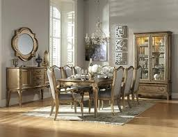 Full Size Of Home Elegance 7 Collection Champagne Gold Wood Finish Formal Dining Table Room Sets