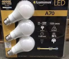 3 x luminus bayonet b22 14w led light bulb 1520 lumens 100w