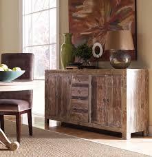 Hampton Rustic Teak Wood Buffet Sideboard
